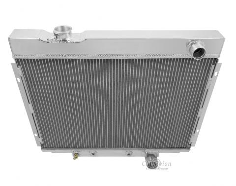 Champion Cooling 1964-1966 Ford Galaxie 4 Row All Aluminum Radiator Made With Aircraft Grade Aluminum MC2338