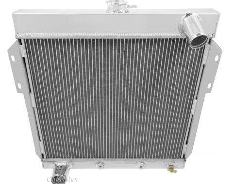 Champion Cooling 1955-1957 Ford Thunderbird 3 Row All Aluminum Radiator Made With Aircraft Grade Aluminum CC5557