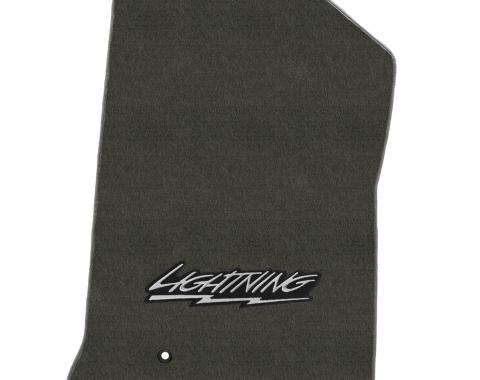 Lloyd Mats Ford F150/250 1999-2000 2 Piece Mats Smoke Velourtex Lighting Logo 620205