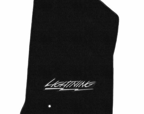 Lloyd Mats Ford F150/250 1999-2000 2 Piece Mats Black Velourtex Lighting Logo 620207