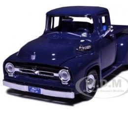 1956 Ford F-100 Pickup Blue 1/24 Diecast Model Car