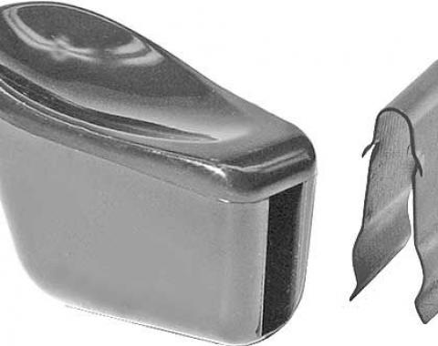 Seat Adjustment Knob & Clip, Black Plastic