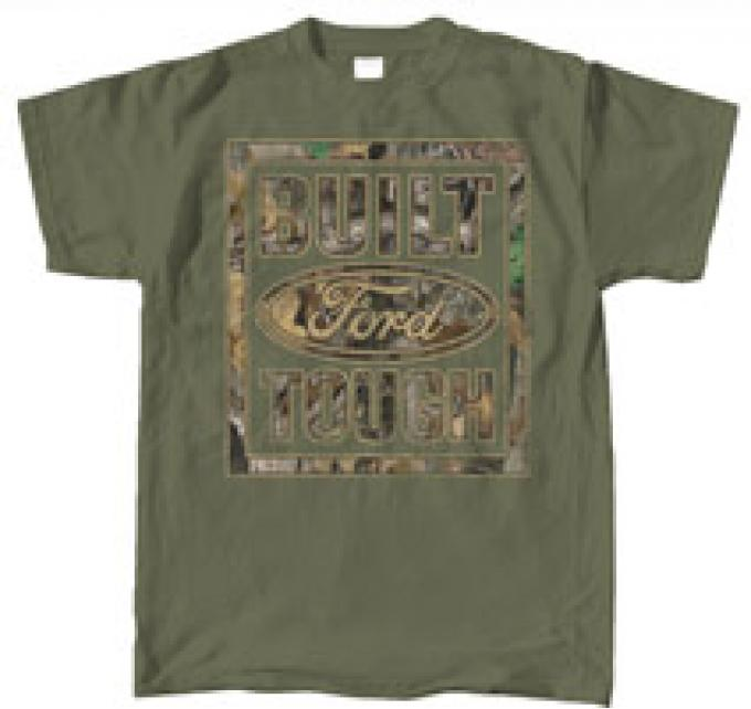 Built Ford Tough, Green & Camo Shirt