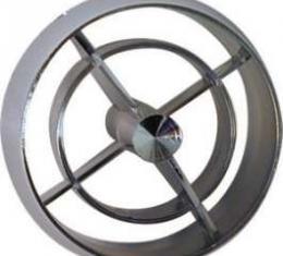 Air Conditioner Register Set - 4 Pieces - Round Chrome Plastic