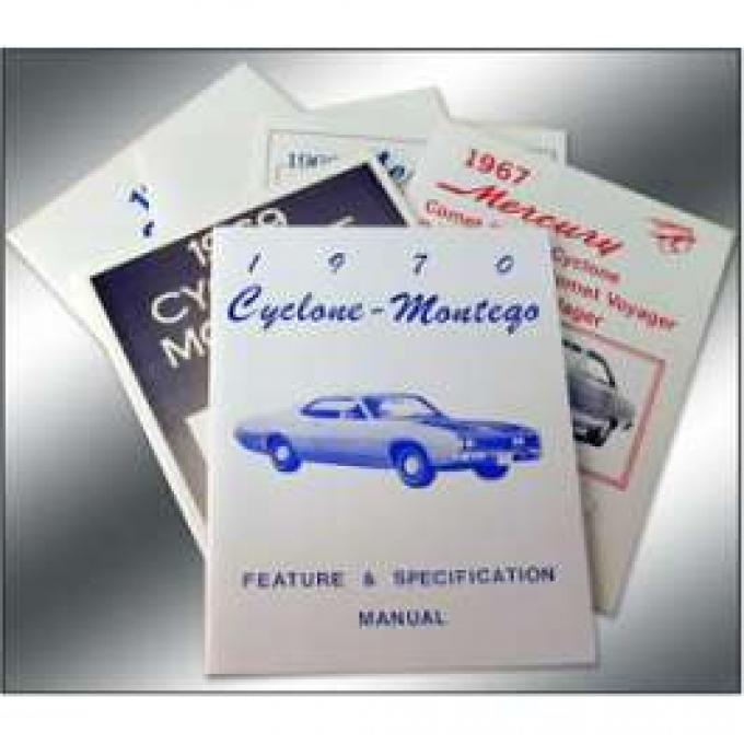 Cyclone and Montego Illustrated Facts Manual - 48 Pages