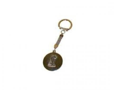Key Chain, Silver Cobra Snake