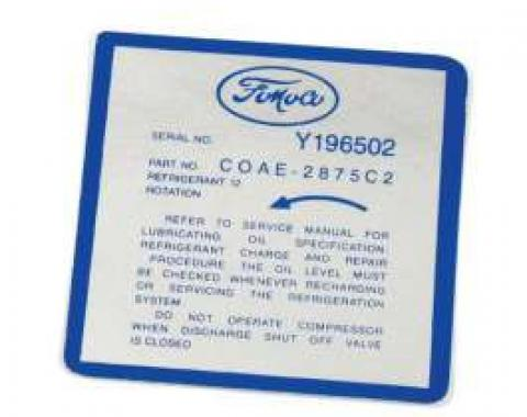 Air Conditioning Decal - Air Conditioning Compressor