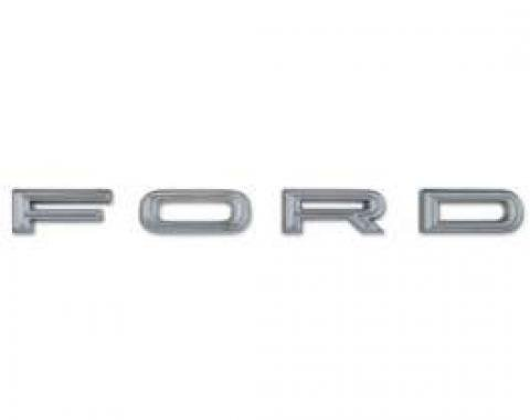 Hood Letter Set - F-O-R-D - Chrome - With Hardware
