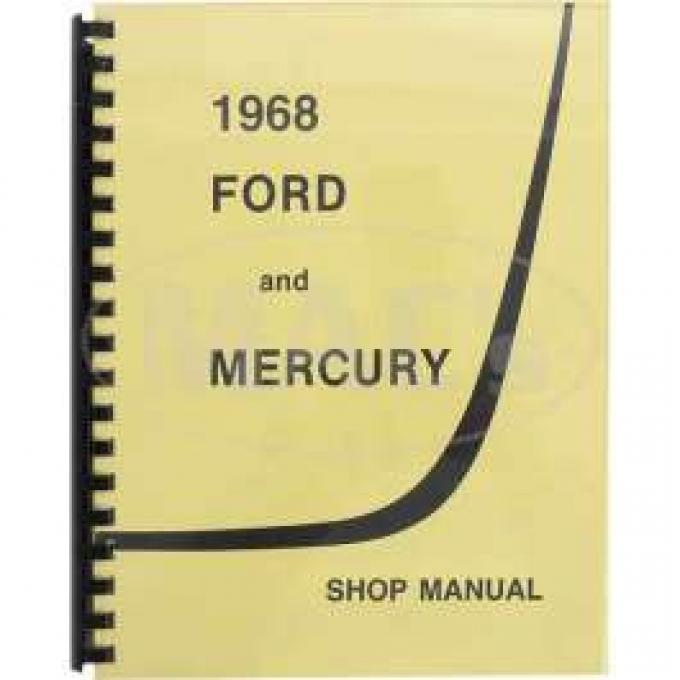 Shop Manual, Galaxie, Full-Size Mercury, 1968