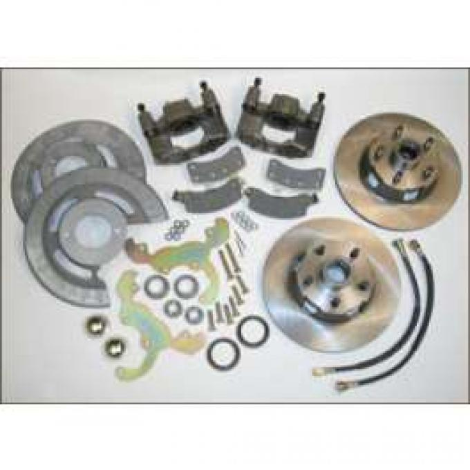 Front Disc Brake Conversion Kit, 5 Lug, Bolt On, Fairlane, Ranchero, Torino, 1966-1971