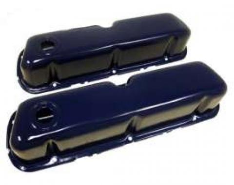 Ford Valve Covers, Small Block, Painted Blue, 1962-1979