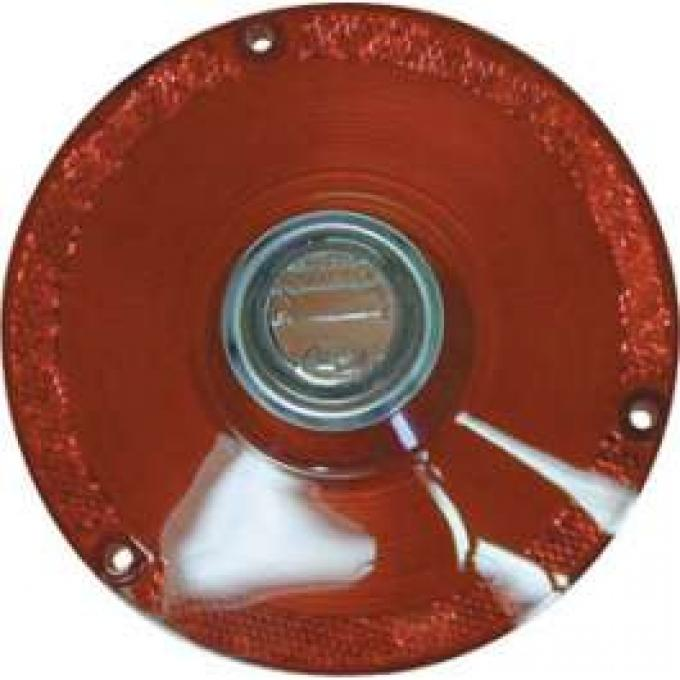 Tail Light Lens - With Backup Light Lens - Includes Chrome Bezel - Ford Logo Molded In