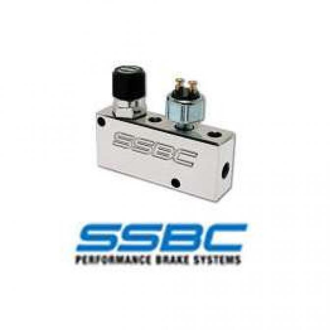 Proportioning Valve,SSBC,Adjustable,Brake Light Switch,Polished