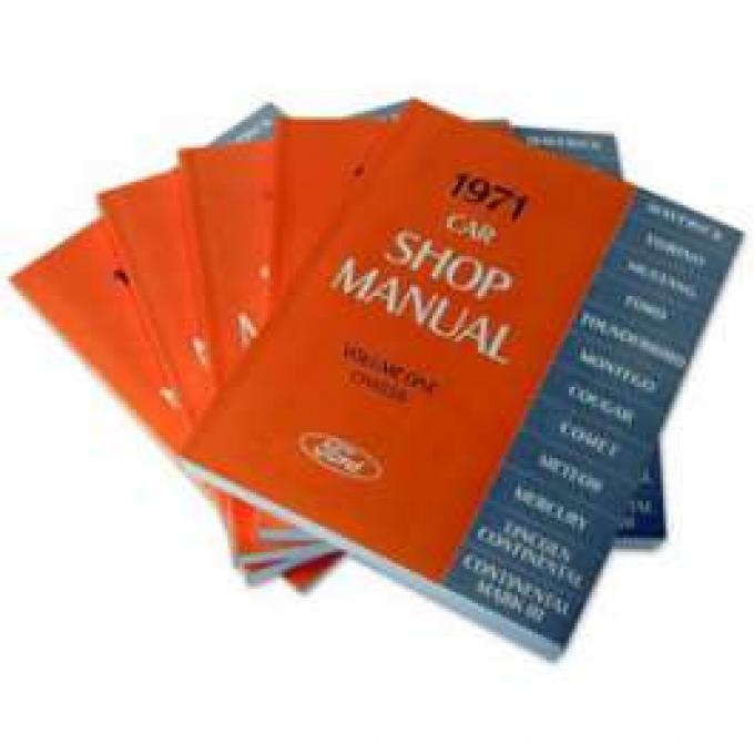1971 Ford Lincoln Mercury Car Shop Manual - 5 Volume Set - 1660 Pages