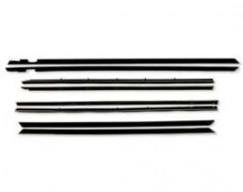 Belt Weatherstrip Kit, Front and Rear Doors, 8 Pieces, 4 Door Sedan & Station Wagon Authentic Feltkit
