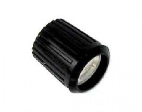 Radio Knob - Black With Silver Insert - Fits Pin-Mount Type