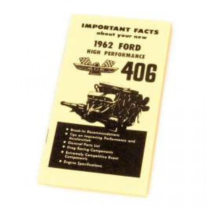 Ford High Performance Owner's Manual Supplement - 10 Pages