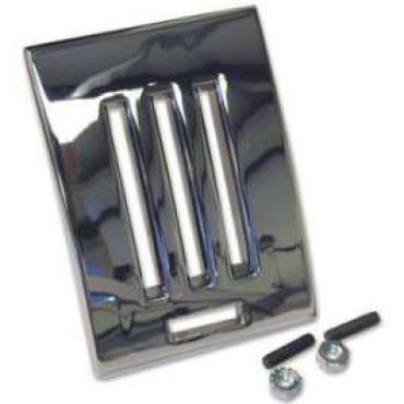 Heater Control Face Plate - Chromed Die-Cast Zinc