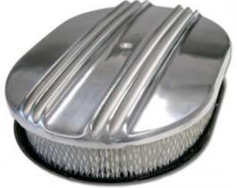 Air Cleaner-Polished Aluminum Finned (4V)