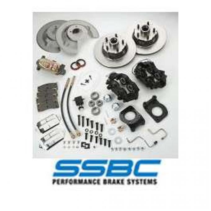 Front Disc Brake Conversion Kit, 4 Piston Calipers, Falcon, Fairlane, Ranchero, 1963-1966