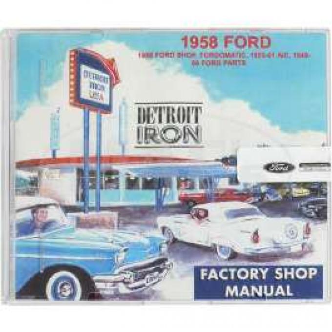 Shop Manual & Parts Manual On CD-Rom, Fairlane, Galaxie, Ranchero, 1958