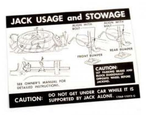 Jack Instructions Decal - C9AB-17095-G