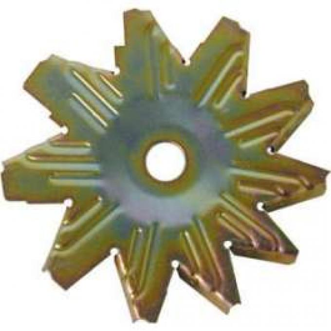Alternator Fan - Gold Zinc Dichromate Finish - 10 Blade