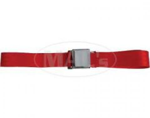 """Seatbelt Solutions Chevrolet 1955-1957, Rear Universal Lap Belt, 60"""" with Chrome Lift Latch 1800602006 