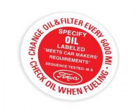 Oil Filler Cap Decal