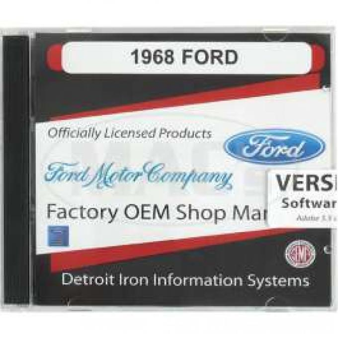 Shop Manual & Parts Manual On CD-Rom, Ford, 1968