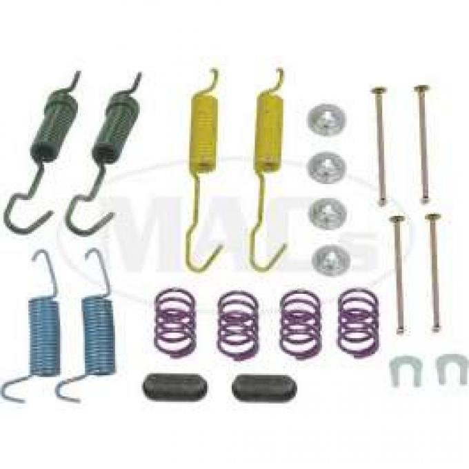 Drum Brake Hardware Combo Kit, For 10 Drum, Ford & Mercury, 1962-1971