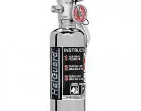 Fire Extinguisher, H3R Halguard Chrome, 1.4 Lb.
