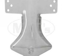 Exhaust Deflector - Stainless Steel - Stamped With V8 Logo