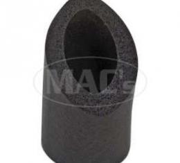 Accelerator Pedal Rod To Firewall Seal - Black Foam Rubber