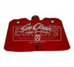 Windshield Washer Bag - Red With White See Clear Lettering - With Cap