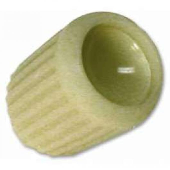 Radio Knob - Split Shaft - Ivory Plastic With Ivory Insert