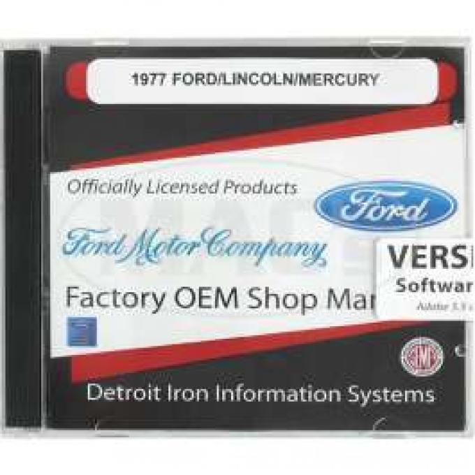 Shop Manual & Parts Manual On CD-Rom, Ford & Mercury, 1977