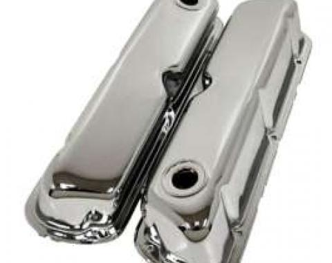Ford Valve Covers, Small Block, Chrome, 1962-1979