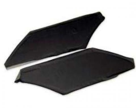 Rear Sail Panels, Fastback, Black, Galaxie, 1965-1966