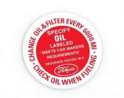 Decal - Oil Filter Cap