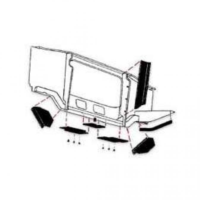 Side Radiator Air Deflector Seals - 240 6 Cylinder and 289 V8