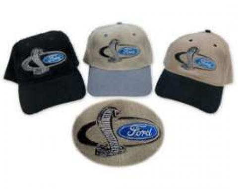 Hat, Ford Oval With Cobra Snake
