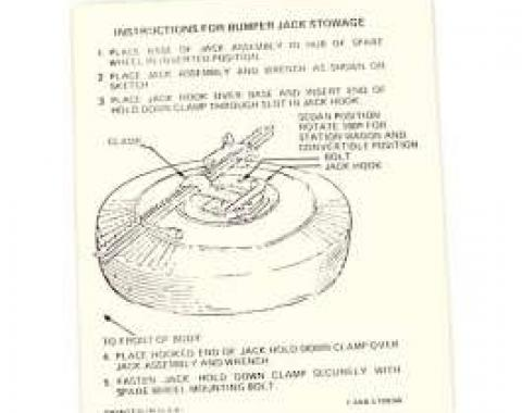 Jack Instruction Decal, Mercury, 1963