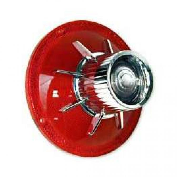 Tail Light Lens - With Backup Lens - Bright Accent On Lens - FoMoCo Logo - Galaxie 500 and 500XL