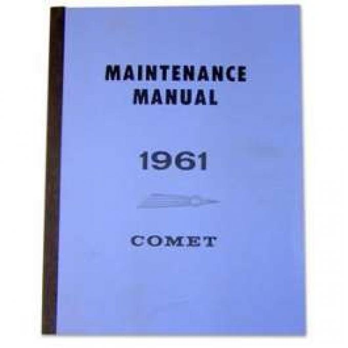 Comet Maintenance Manual - 300+ pages
