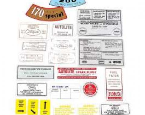 Decal Kit - 170 and 200 6 cylinder - 16 Pieces