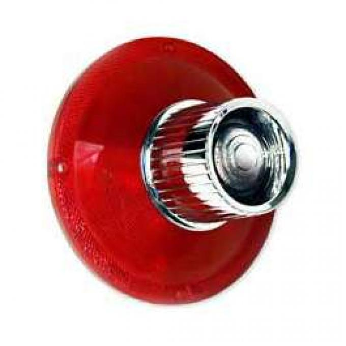 Tail Light Lens - With Backup Lens - Bright Accent On Lens - FoMoCo Logo