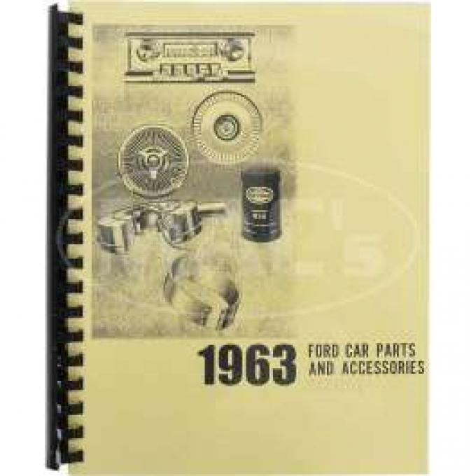 Car Parts And Accessories Manual, Ford, 1963
