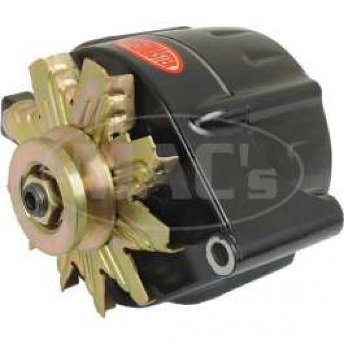 66/93 Black Finish Alternator Internally Regulated, 140 Amp