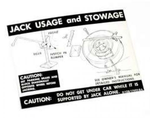 Decal - Jack Instructions - Regular Wheels